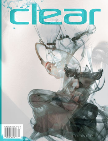 Clear magazine cover with wrap